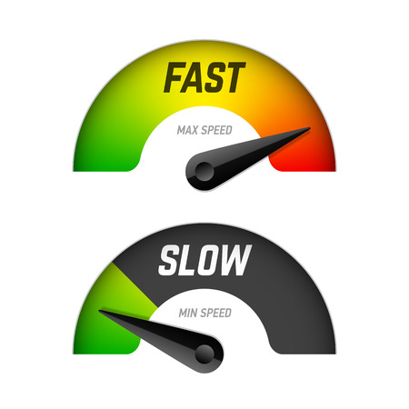 internet speed: Fast and slow download Illustration