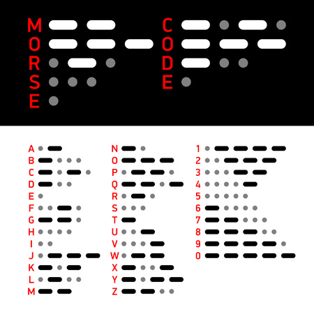 morse code: International Morse Code alphabet and numbers Illustration