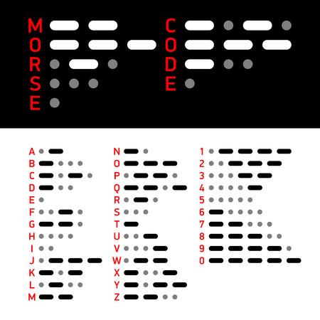 International Morse Code alphabet and numbers Illustration