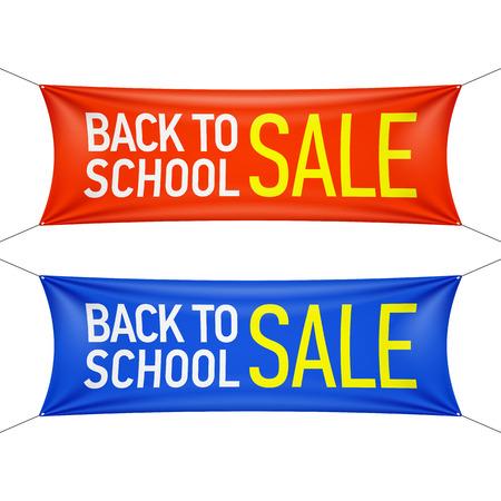 escuelas: Regreso a la Escuela bandera de la venta Vectores