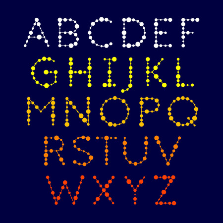 dotted: Dotted alphabet