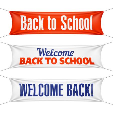 Bentornato a scuola banner Archivio Fotografico - 43114430