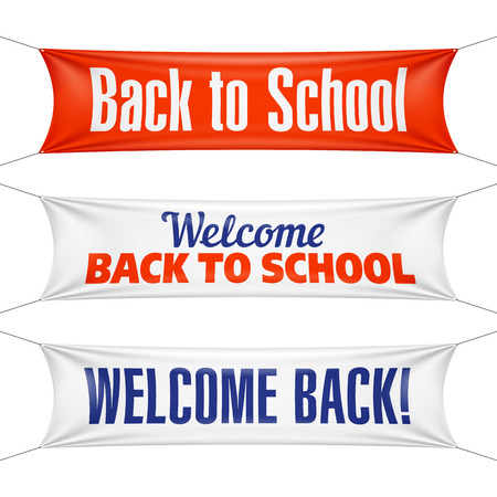 business event: Welcome Back to School banners