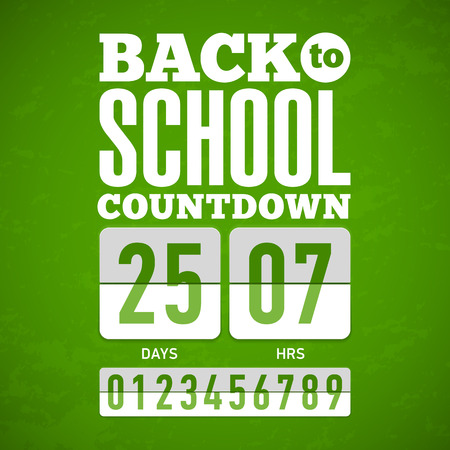 countdown clock: Back to School countdown Illustration
