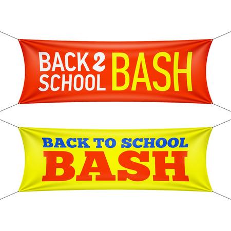 Школа: Вернуться в школу Bash баннеров Иллюстрация