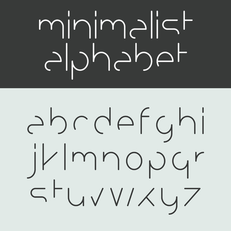 minimalist style: Minimalist alphabet lower case letters Illustration