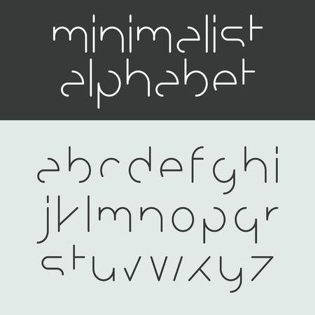 minimalista: Minimalista ábécé kisbetűk Illusztráció