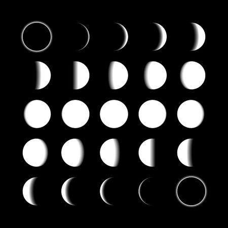 cicla: Fases lunares Vectores
