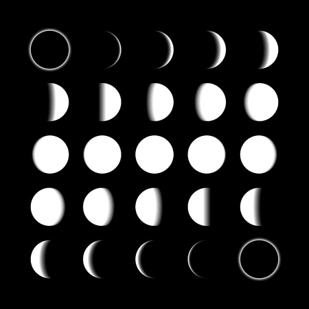 vector: Lunar phases