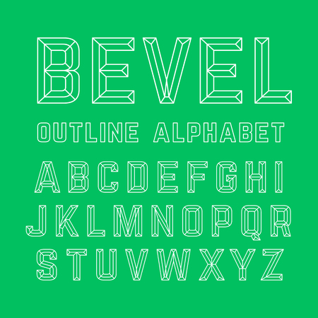 beveled: Beveled outline alphabet