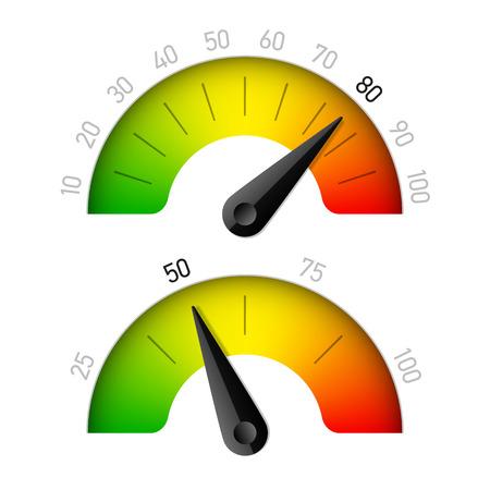 rating meter: Progress indicator with percentage Illustration