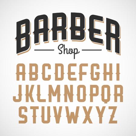 lettre alphabet: Police de style vintage