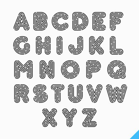 odcisk kciuka: Linii papilarnych litery alfabetu