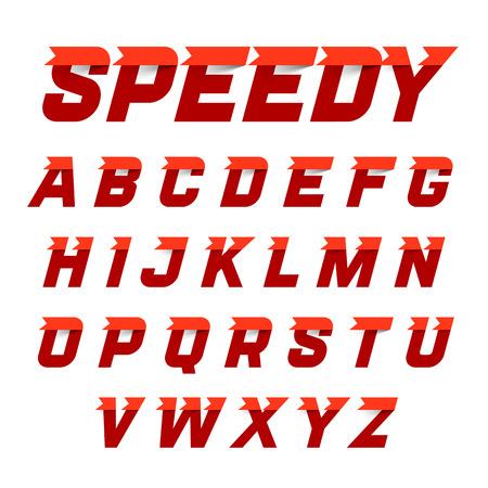 lettres alphabet: Style de Speedy, alphabet dynamique