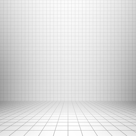 Interior backdrop with grid Stock Illustratie