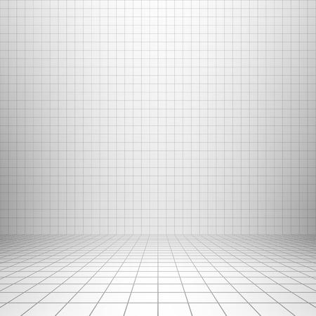 Interior backdrop with grid Vettoriali