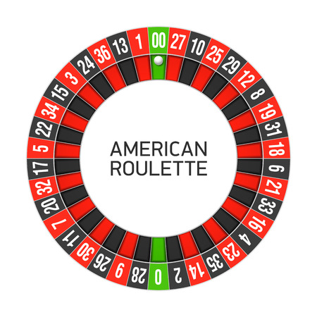 roulette layout: American roulette wheel Illustration