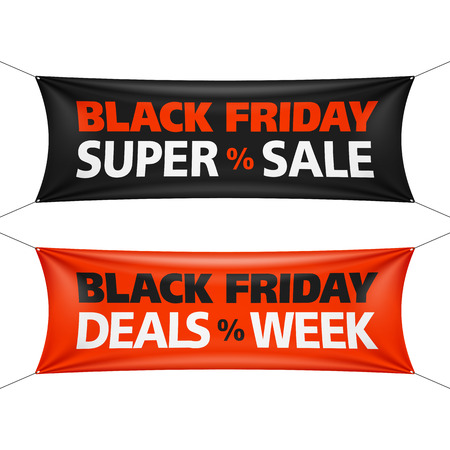sales tag: Black Friday Sale banner