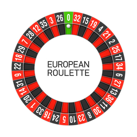 europeans: European roulette wheel Illustration