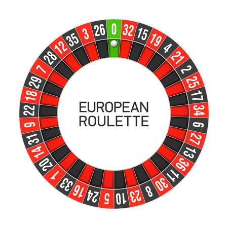 roulette online: European roulette wheel Illustration