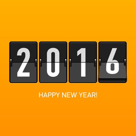 happy new year: Happy New Year 2016 card