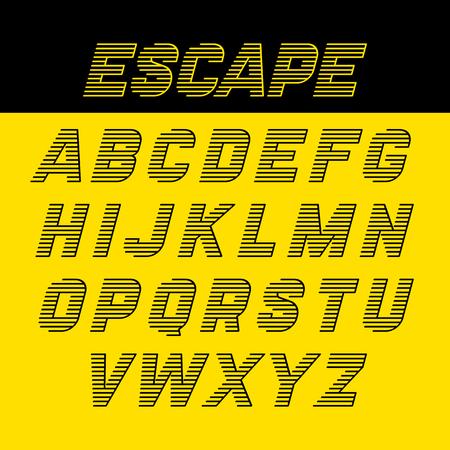 latin alphabet: Fast speed style alphabet Illustration