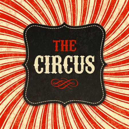 Circus poster background 일러스트