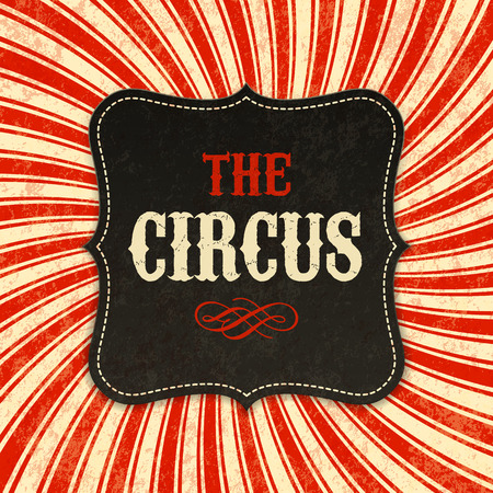 Circus poster background Illustration