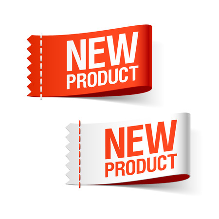 New product labels Иллюстрация