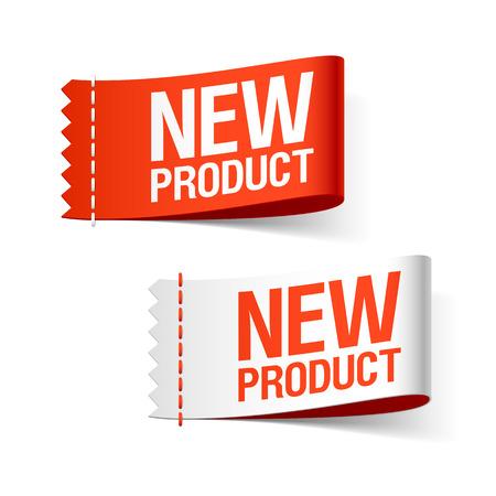 Nuove etichette dei prodotti Archivio Fotografico - 47219204