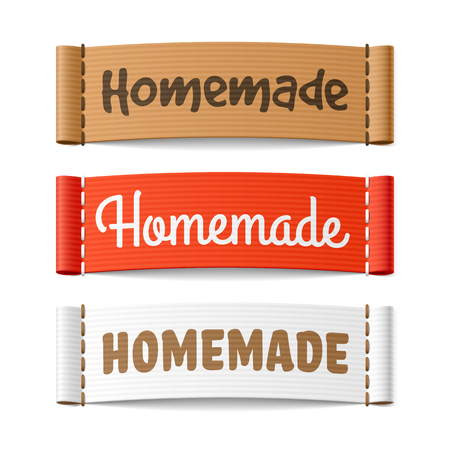 hand crafted: Homemade labels