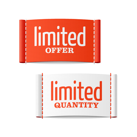 garment label: Limited offer and quantity clothing labels