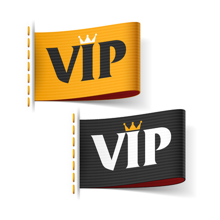 etiquetas de ropa: Etiquetas VIP Vectores
