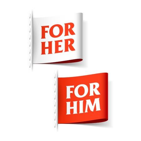 him: For her and for him labels