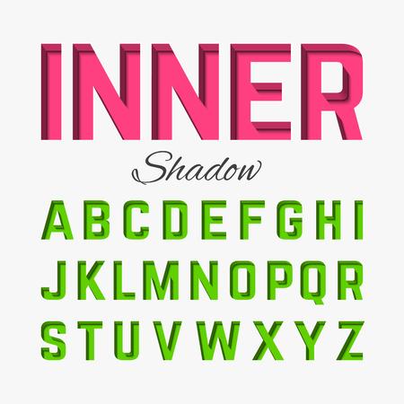 abecedario: Fuente sombra interior