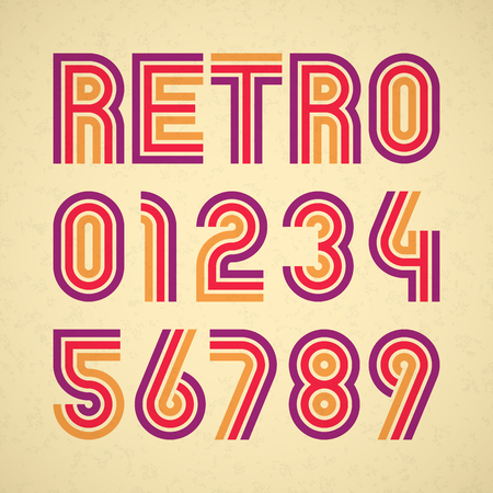numbers: Retro style alphabet numbers