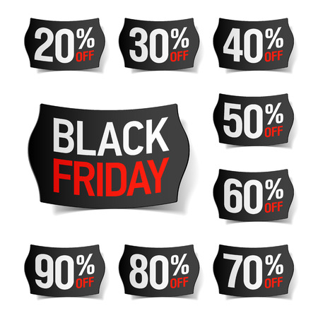 Black Friday verkoop Stock Illustratie