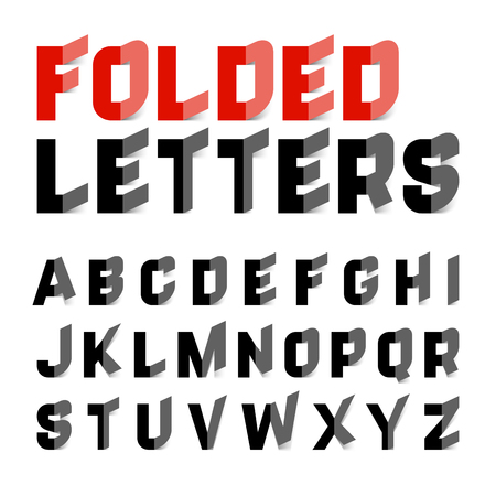 paper: Folded alphabet letters