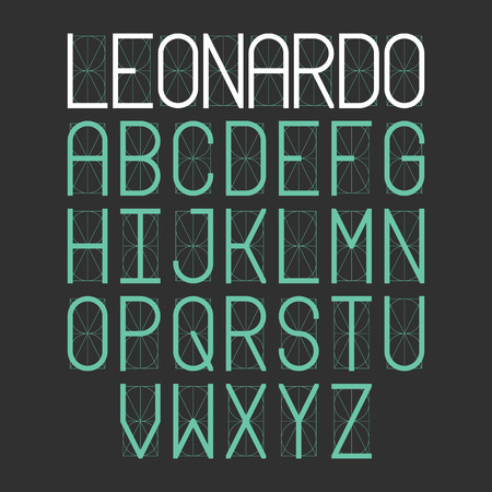 art contemporary: Thin simple font Leonardo