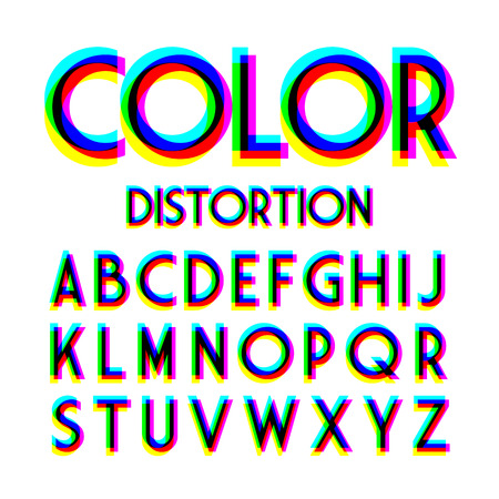 Color distortion alphabet