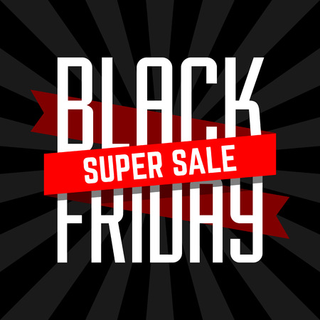 sale sign: Black Friday super sale design template