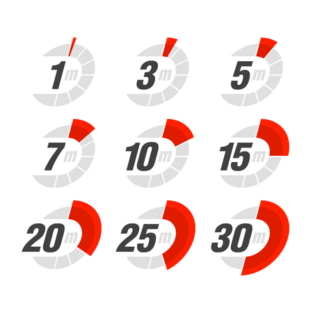 count down: Set of timers Illustration