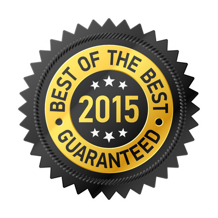 quality assurance: Best of the Best 2015 label Illustration