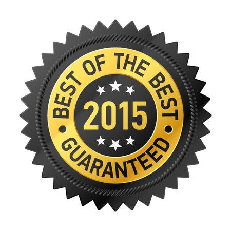 at best: Best of the Best 2015 label Illustration
