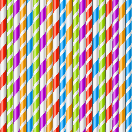 Drinking straws background, seamless illustration