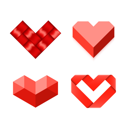 heart diamond: Heart symbols Illustration