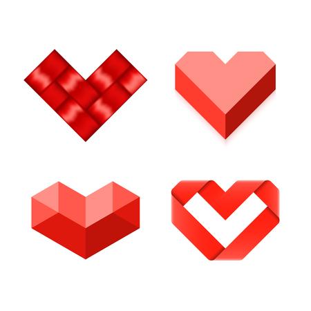heart month: Heart symbols Illustration