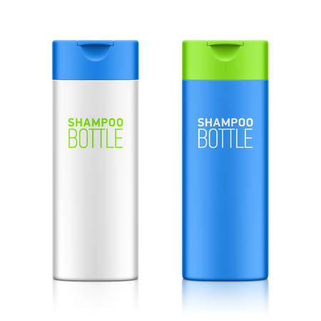 cosmetic bottle: Shampoo bottle template for your design Illustration