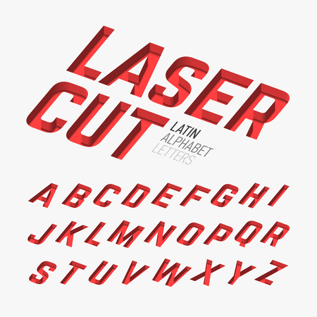 cur: Laser cutted alphabet