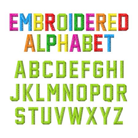 Embroidered font Иллюстрация